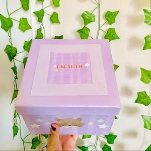 Lavender Critter Baby Memory Box